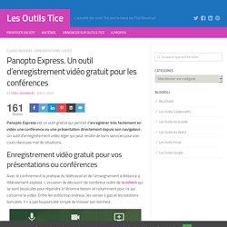 Panopto Express. Un outil d'enregistrement vidéo gratuit dans le navigateur