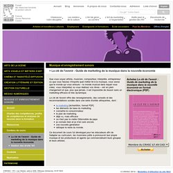 Musique et enregistrement sonore - Conseil des ressources humaines du secteur culturel (CRHSC)