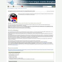 pratique d'une langue vivante étrangère - enregistrements sonores pour la compréhension orale