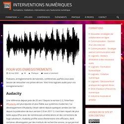 Pour vos enregistrements - Interventions Numériques