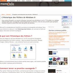 Enregistrer automatiquement ses données - Windows 8