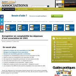 Enregistrer en comptabilité les dépenses d'une association loi 1901
