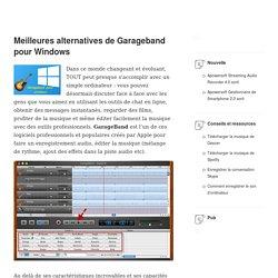 éditer et enregistrer l'audio avec GarageBand pour Windows