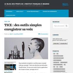 TICE : des outils simples enregistrer sa voix – Le blog des profs de l'Institut Français à Madrid