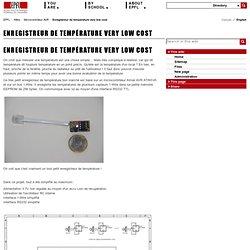 Enregistreur de température very low cost