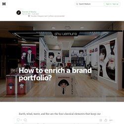 How to enrich a brand portfolio?
