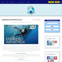 Enriched Air Nitrox (40 %) - Dive Spot Asia