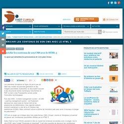 Enrichir les contenus de son CMS avec le HTML 5