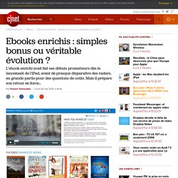 Ebooks enrichis : simples bonus ou véritable évolution