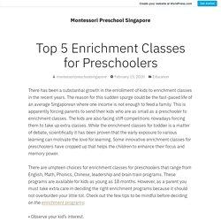 Enrichment Classes & Programs for Preschoolers