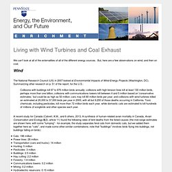 Lesson 11.4 Enrichment: Living with Wind Turbines and Coal Exhaust