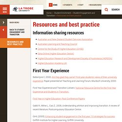 Resources and best practice, Student Enrichment, La Trobe University