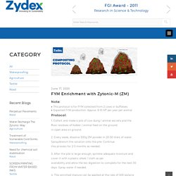 FYM Enrichment with Zytonic-M (ZM) – Zydex Industries