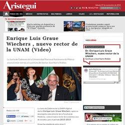 Enrique Graue, nuevo rector de la UNAM (Video)