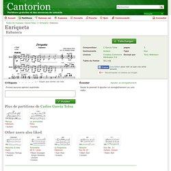 Enriqueta Habanera - Guitare, Guitare - Partitions - Cantorion, partitions gratuites et des annonces de concerts
