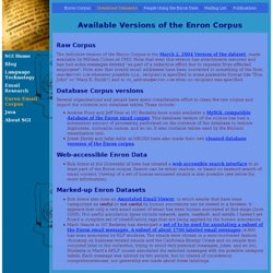 Enron Email Corpus >> Download Datasets