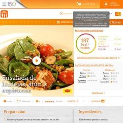 Ensalada de lentejas, atún y espinacas - Nestlé Cocina
