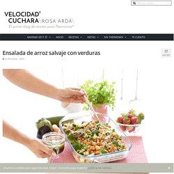 picnic Ensalada de arroz salvaje con verduras con Thermomix picnic
