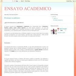 El ensayo academico
