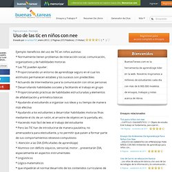 Uso De Las Tic En Niños Con Nee - Ensayos de Colegas - Escarlata797