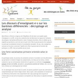 Les discours d'enseignant·e·s sur les barèmes différenciés : décryptage et analyse – l'institut EgaliGone