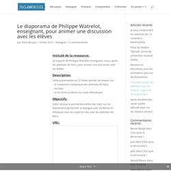 Le diaporama de Philippe Watrelot, enseignant, pour animer une discussion avec les élèves