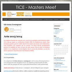 TICE – Masters Enseignement