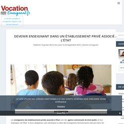 Devenir enseignant dans un établissement privé associé à l'État - Vocation Enseignant