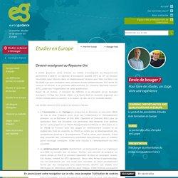 Devenir enseignant au Royaume-Uni - Euroguidance