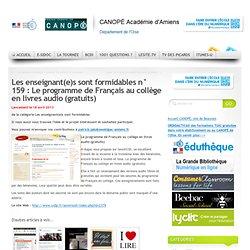 159 : Le programme de Français au collège en livres audio (gratuits)