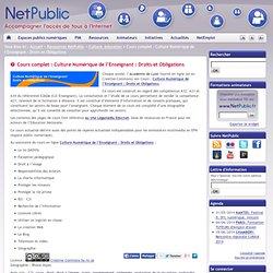 Cours complet : Culture Numérique de l'Enseignant : Droits et Obligations