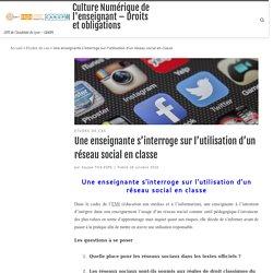 RÉSEAUX SOCIAUX – Culture Numérique de l'enseignant – Droits et obligations