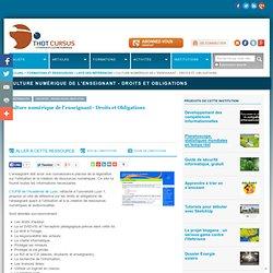 Culture numérique de l'enseignant - Droits et Obligations