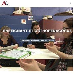 Enseignant et orthopédagogue Analyser -