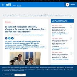 Le syndicat enseignant SNES-FSU s'inquiète du manque de professeurs dans la Loire pour cette rentrée