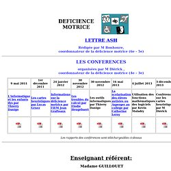 Enseignant referent