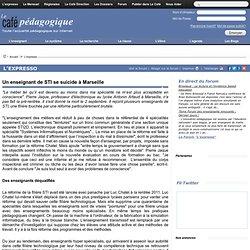 Un enseignant de STI se suicide à Marseille