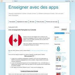 Une enseignante française au Canada