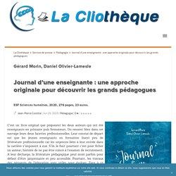 Journal d'une enseignante : une approche originale pour découvrir les grands pédagogues La Cliothèque