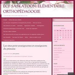 Les sites pour enseignantes et enseignants du primaire