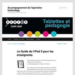 Le Guide de l'iPad 2 pour les enseignants