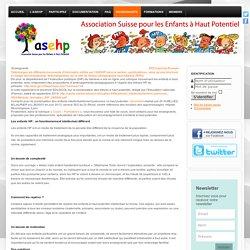 Enseignants - ASEHP - Association Suisse pour les Enfants à Haut-Potentiel (ex ASEP Suisse)
