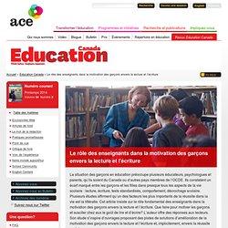Le rôle des enseignants dans la motivation des garçons envers la lecture et l'écriture