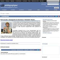 """Port Leucate : Enseignants et chercheurs """"refondent"""" l'Ecole..."""