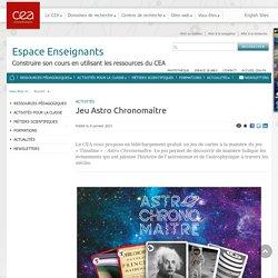 Espace Enseignants - Jeu Astro Chronomaître