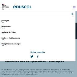 Enseignants - Mettre en œuvre le cadre de référence des compétences numériques