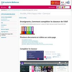 Enseignants_Comment compléter le classeur de l'ENT - Edul@b_Pôle d'appui Albi - Carmaux - CITE SCOLAIRE BELLEVUE