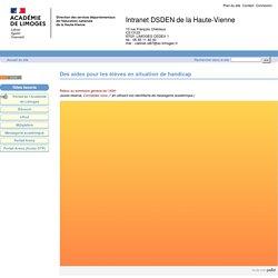 Des aides et des outils pour les élèves et les enseignants - Direction des services départementaux de la Haute-Vienne