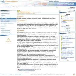 Atelier d'écriture: - Les Enseignants Documentalistes de l'Académie de Poitiers