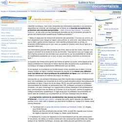 L'identité numérique (enseignants documentalistes Poitiers)